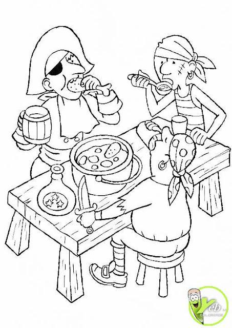 Dibujos de piratas para colorear - Pirates coloriage ...