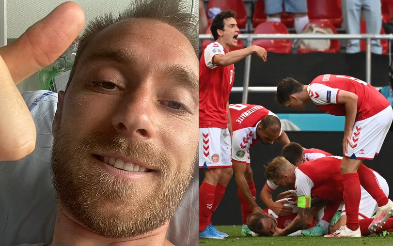 'I'm back with you.. For f***'s sake, I'm only 29' - Christian Eriksen's first words after cardiac arrest revealed by doctor who treated him on the pitch.