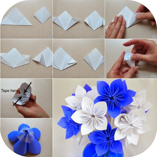 Origami flower tutorials apps on google play mightylinksfo