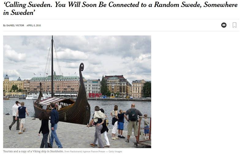 nyt calling Sweden