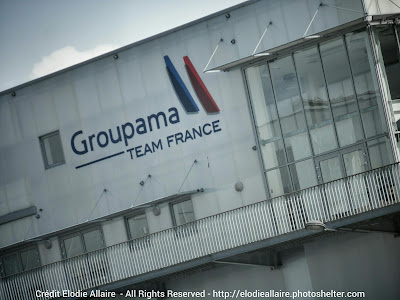 Groupama Team France et Franck Cammas à Lorient