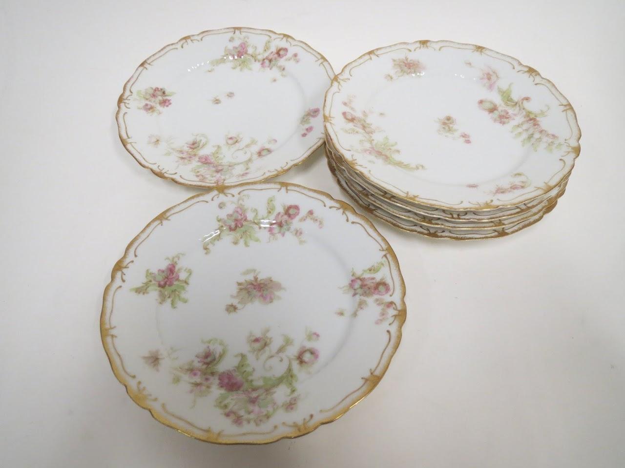 Haviland + Limoges Dessert Plate Sextet