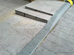 Road side block stone