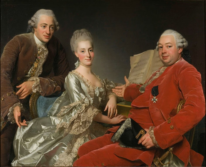 Alexander Roslin - John Jennings Esq., his Brother and Sister-in-Law - Google Art Project