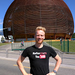 matt at CERN in Geneva, Geneva, Switzerland