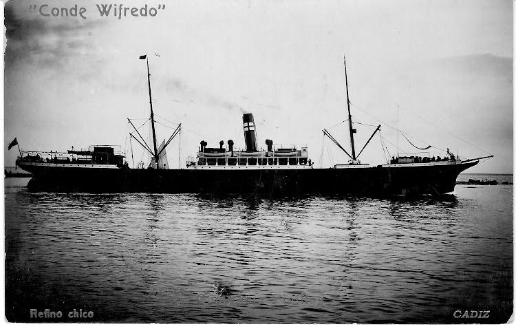 El CONDE WIFREDO visto por estribor. Postal remitida por Jaume Cifre Sanchez. Nuestro agradecimiento.jpg