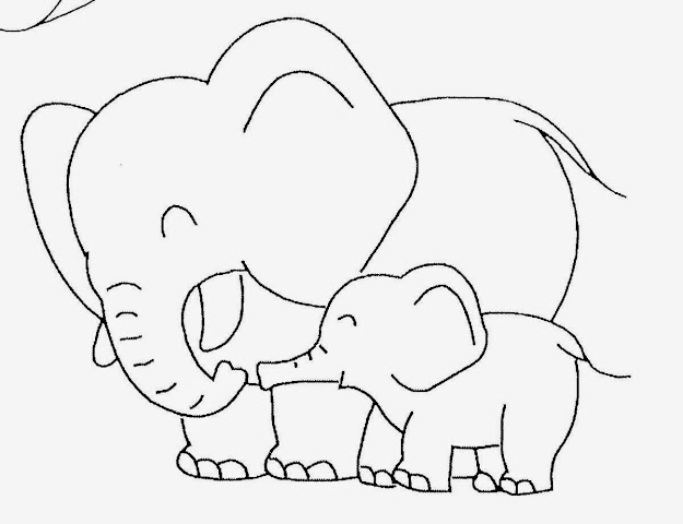 Baby Elephant Template  Baby Elephant Coloring Pictures  Cute Baby