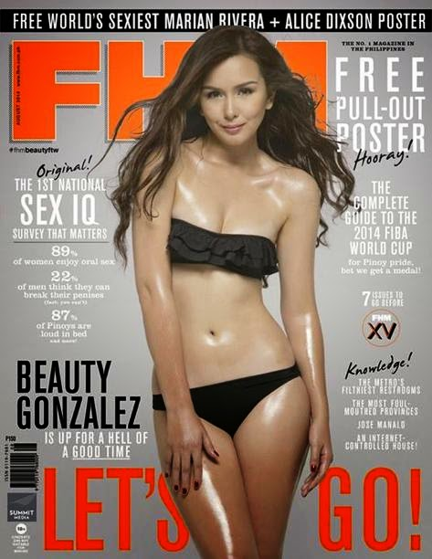 Fhm cover Beauty Gonzalez Then and Now with Pictures 01 19 August 2014