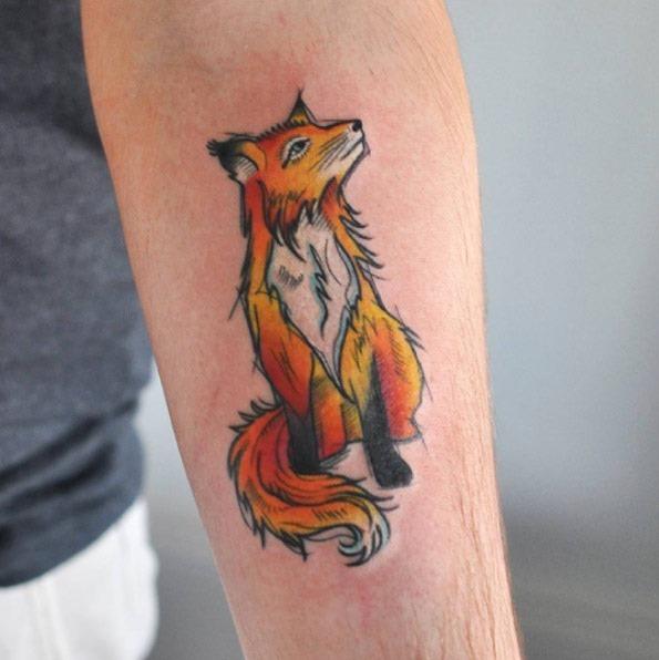 este_adorvel_antebraço_fox_tatuagem