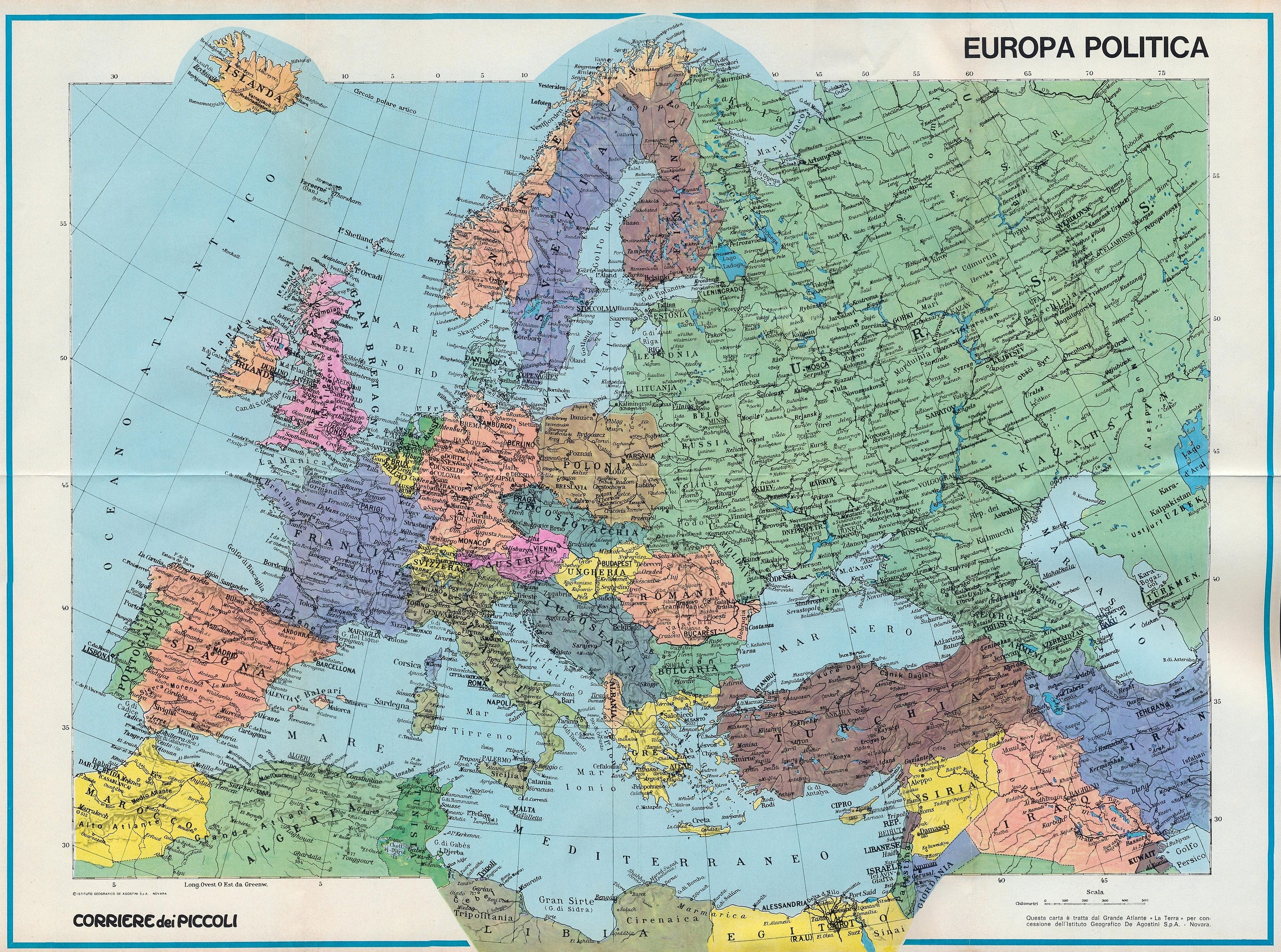 Cartina Geografica Europa Da Stampare.123scuola Com Unita 1 Gli Strumenti Della Geografia
