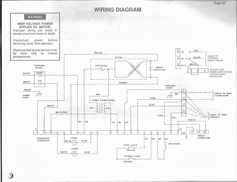 garage door type switch... • electronics newbies ... overhead door electrical diagram overhead door wiring schematic #12