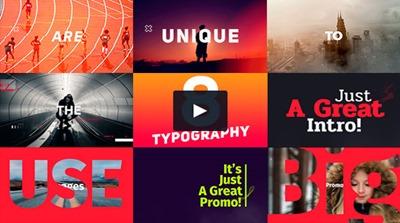 Typography Promo: atractiva plantilla con diseño de calidad, para texto sobre imágenes