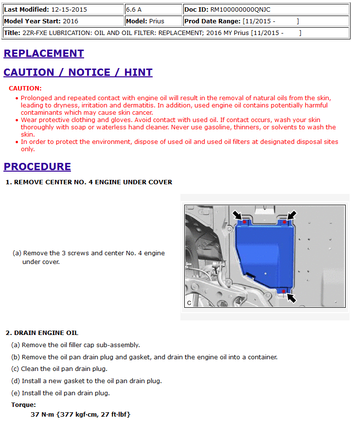 Oem prius 2016 gen 4 oil change instructions mechanical when it comes to oil change if you want it done right you have to do it yourself solutioingenieria Gallery