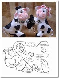 vacas con moldes