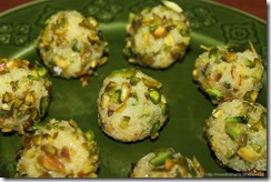 Easy Coconut Pistachio Laddoo - IMG_1432