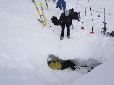 esqui de travesia y curso de avalanchas
