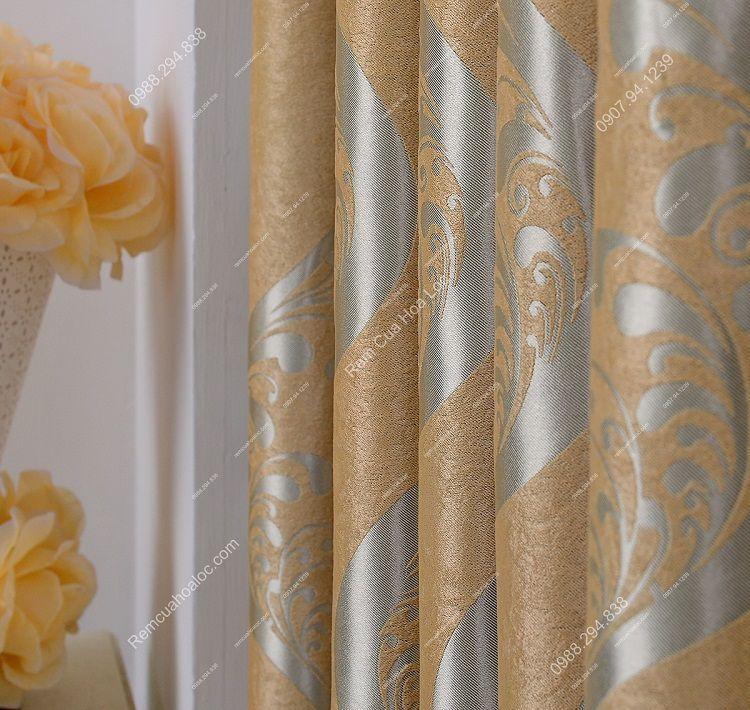 Rèm cửa cao cấp đẹp vàng ánh bạc 10