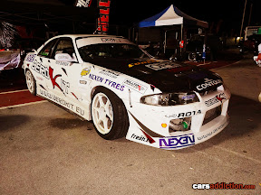 White Nissan R33 from Aerokit