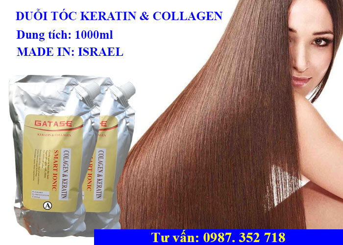 Thuốc duỗi tóc keratin vàcollagen