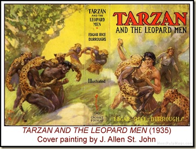 TARZAN & THE LEOPARD MEN, J. Allen St. John art