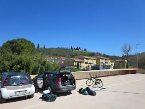 Photo: Start fietstocht Reitsmaroute midden Italie naar Rome via Siena Vertrek uit Bottei bij Florence 14 april