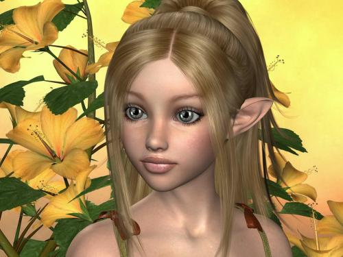 Elven Blue Eyes Girl, Elven Girls