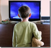 Kid addicted to TV