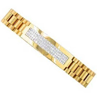 Buttery Men's Diamond Bracelet-14Kt Yellow Gold