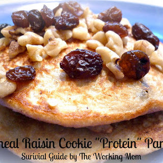 "Oatmeal Raisin Cookie ""Protein"" Pancake."