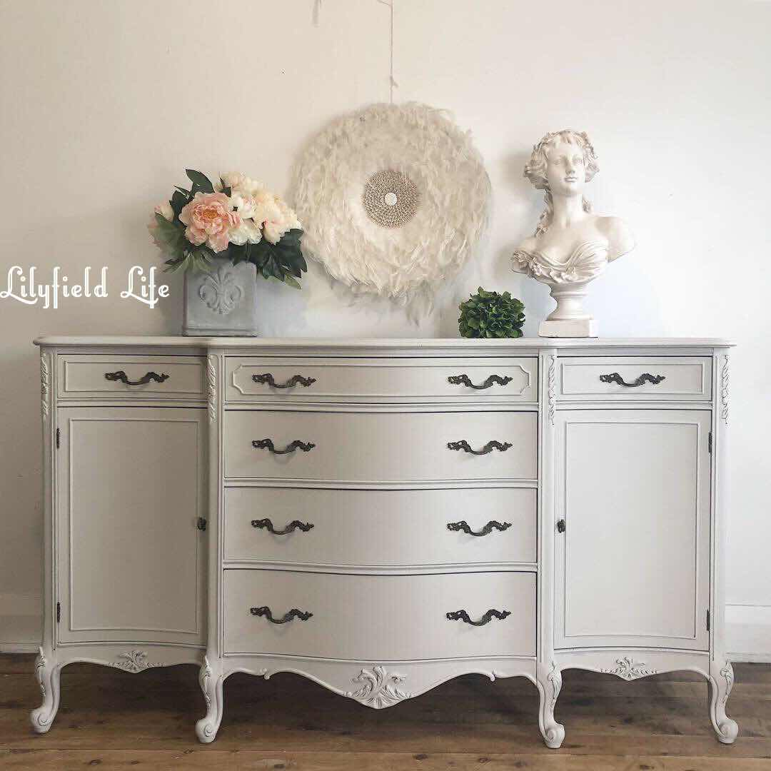 lilyfield life french hand painted vintage sideboard - chalk paint