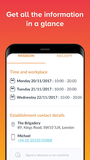 Brigad - Hospitality Staffing - screenshot