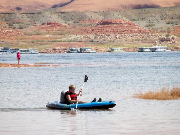 Bradley paddling