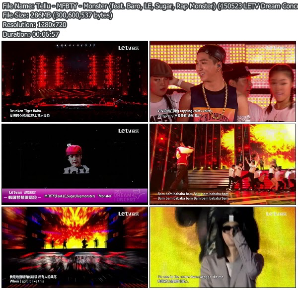Download [Perf] MFBTY – Monster (feat  Baro, LE, Sugar, Rap