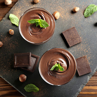 Sugar Free Chocolate Chocolate Cream Cheese Mousse.