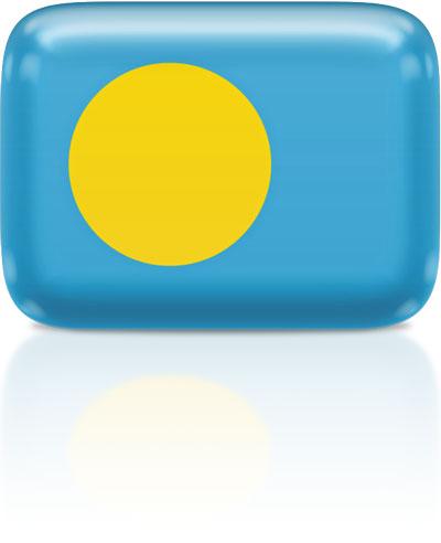 Palauan flag clipart rectangular