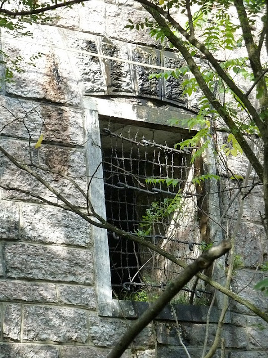 A barred window of Fort Mattarello, Italy
