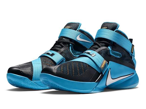 on sale 8823c a9ac3 LeBron 13 Shares its Blue Lagoon Style with the Nike Soldier ...