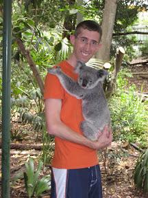 Me holding a koala