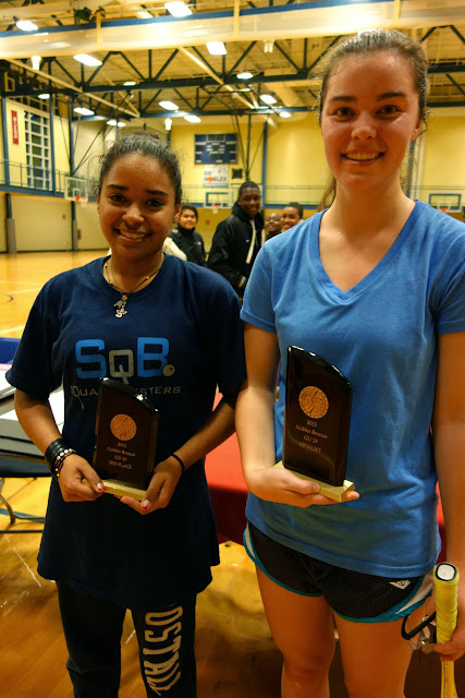 GU19 flight:Angelina Miranda, 3rd place, and Caroline Schoeller, Finalist