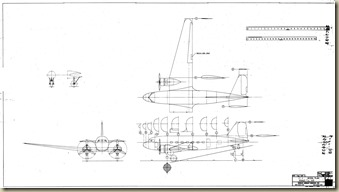 Douglas DC-3 Model Drawing