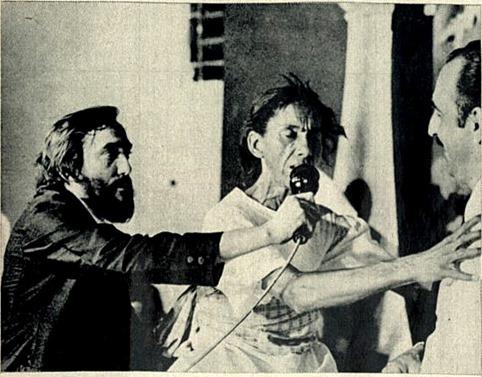 Humberto Mesquita produzindo matéria para o programa Xeque-Mate da TV Bandeirantes - 1971