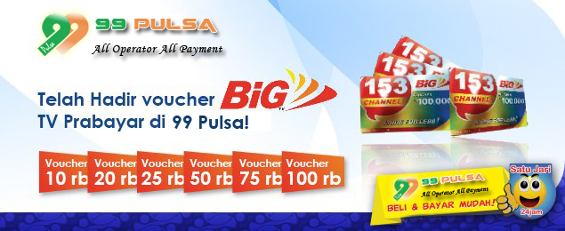 Voucher BIG TV Murah