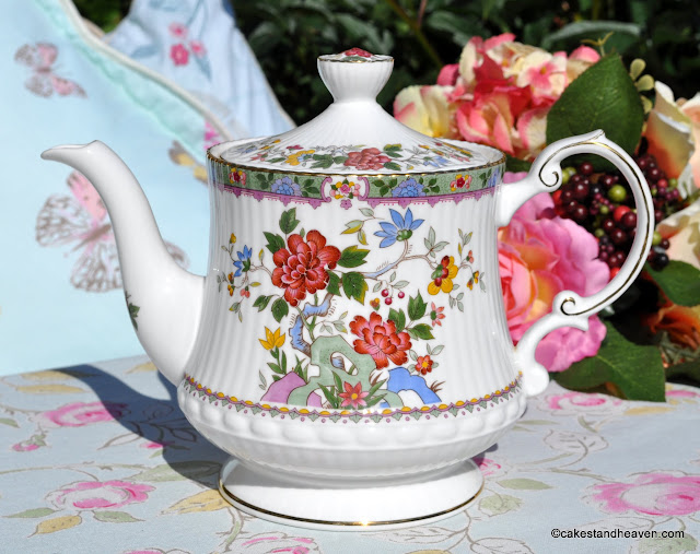 Rosina China Flower of Amaran Vintage Teapot