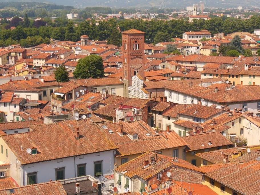 Panorámica de Lucca desde la Torre Guinigi