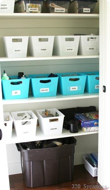 dollar store closet organization