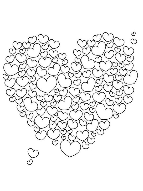 Volwassen Kleurplaat Hart Admin Liefdes Zinnen