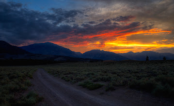 """Photo: """"Sometimes it's worth lingering on the journey for a while before getting to the destination."""" ~Richelle Mead  Eastern Sierra, Mono County, California. July 2014 A sunset that didn't seem like it would do much and then all of a sudden it blossomed. Have a nice weekend!               #landscapephotography +Landscape Photography #breakfastclub +Breakfast Club #stunningmoment +Stunning Moment #showyourbestwork +ShowYourBestWork #roadscape  #california  #californiadreamin +California Dreamin' +10000 PHOTOGRAPHERS #10000photographers"""
