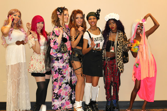 Canada Gyaru Circle prior to the fashion show in Toronto, Ontario, Canada