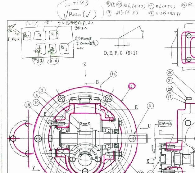 機械製図技能検定2級の実技の流...