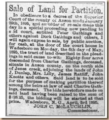 Sale of Land-Gathings